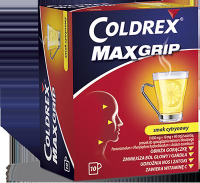 Coldrex MaxGrip  o smaku cytrynowym